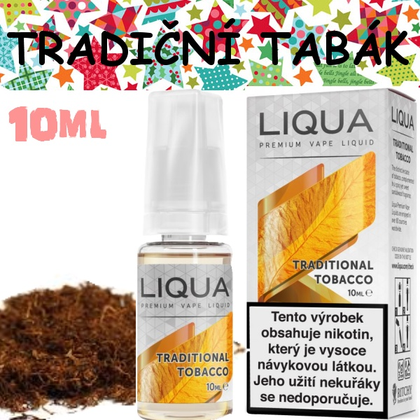 Liquid LIQUA Elements Traditional tabacco 10ml / 0mg