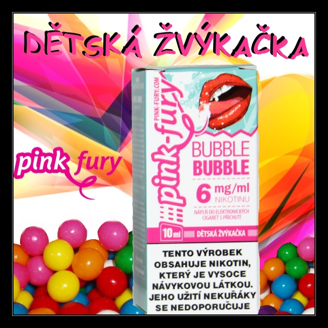 E-liquid Pink Fury Žvýkačka 6mg / 10ml