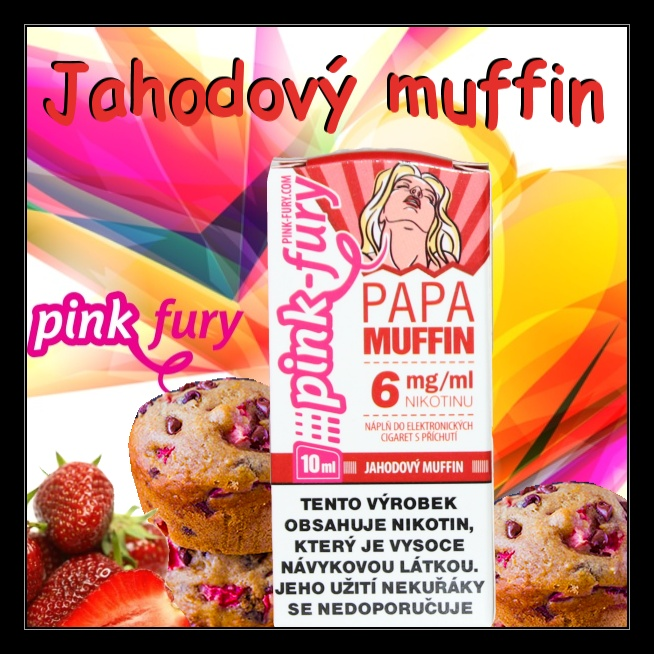 E-liquid Pink Fury Jahodový muffin 6mg / 10ml