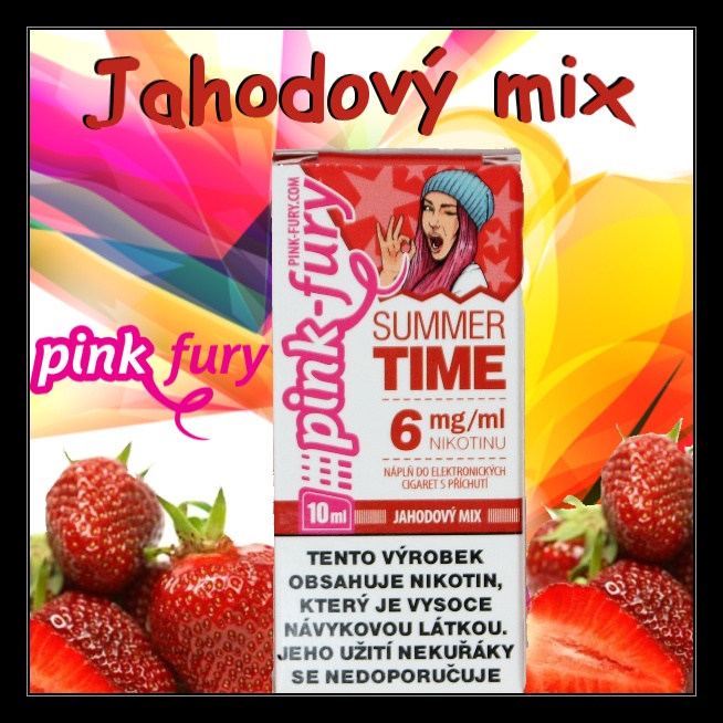 E-liquid Pink Fury Jahodový mix 12mg / 10ml