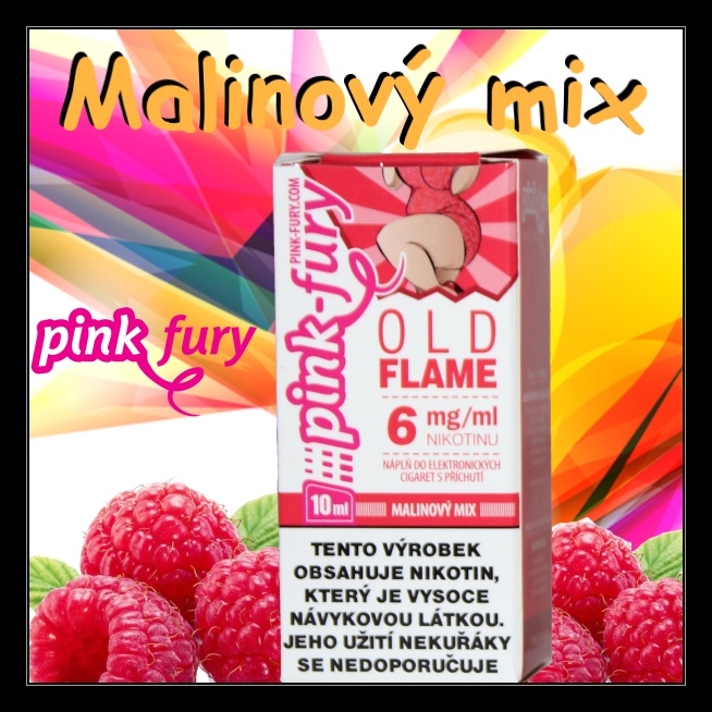 E-liquid Pink Fury Malinový mix 18mg / 10ml