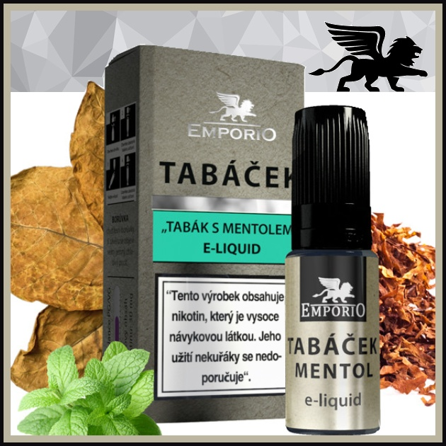 E-liquid EMPORIO Tabáček-Mentol 1,5mg / 10ml
