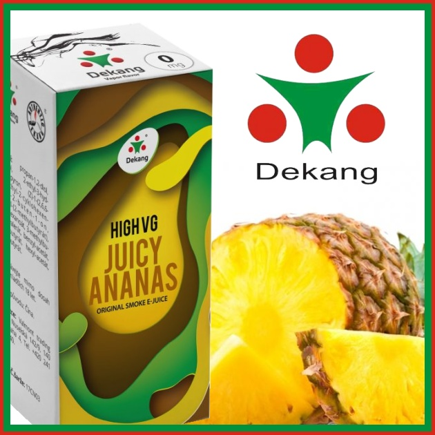 E-liquid DEKANG HIGH VG JUICY ANANAS 10ml / 1,5mg