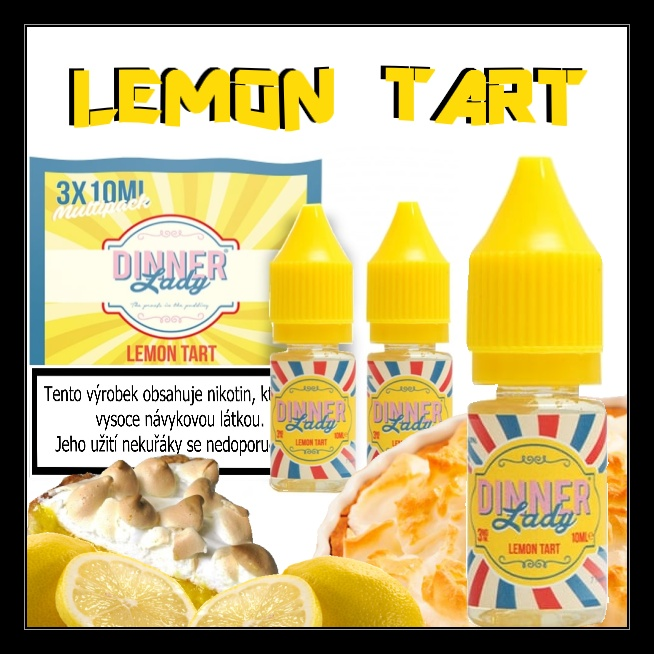 E-liquid DINNER LADY Lemon tart 3x10ml / 6mg