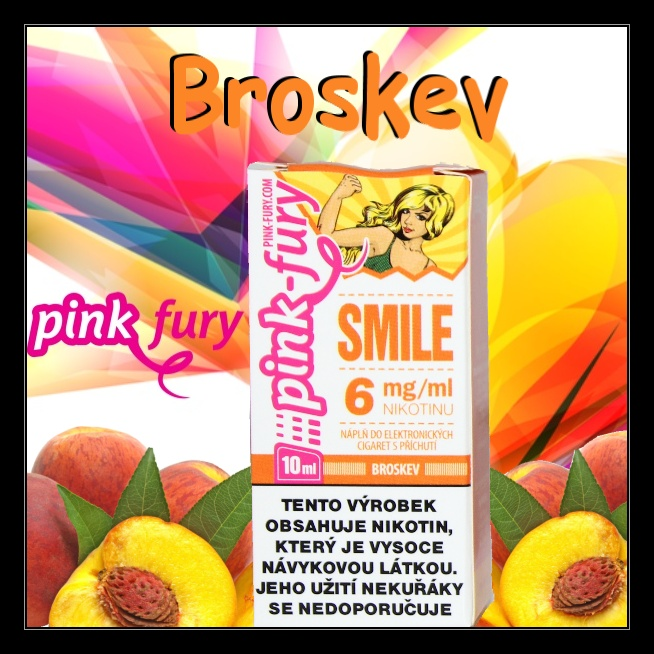E-liquid Pink Fury Broskev 0mg / 10ml