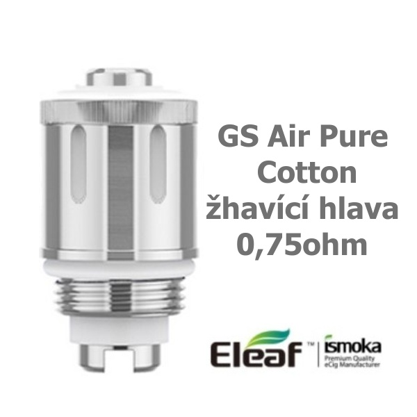 iSmoka-Eleaf GS Air Pure Cotton žhavící hlava 0,75ohm 1ks