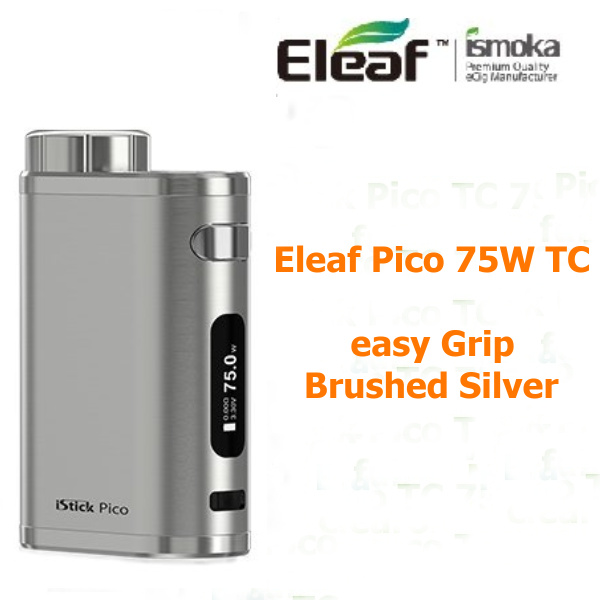iStick Pico TC 75W easy grip Brushed Silver