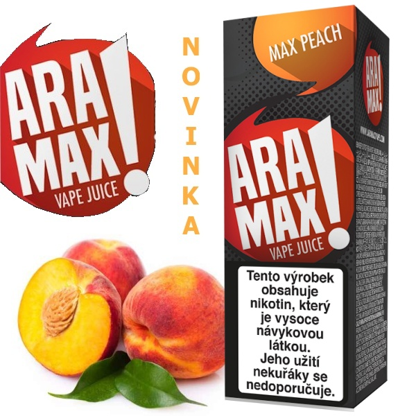 Liquid ARAMAX Max Peach 10ml/12mg