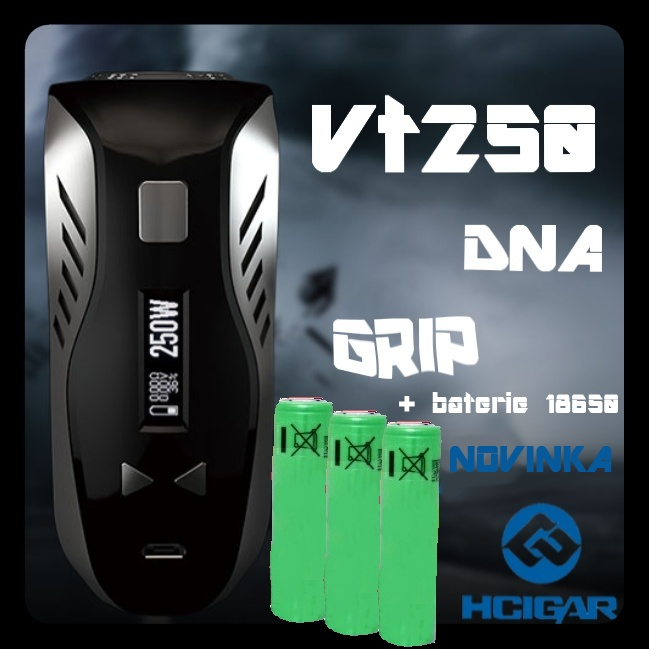 HCigar VT250 DNA grip 3x18650 2600mAh Black/Černý
