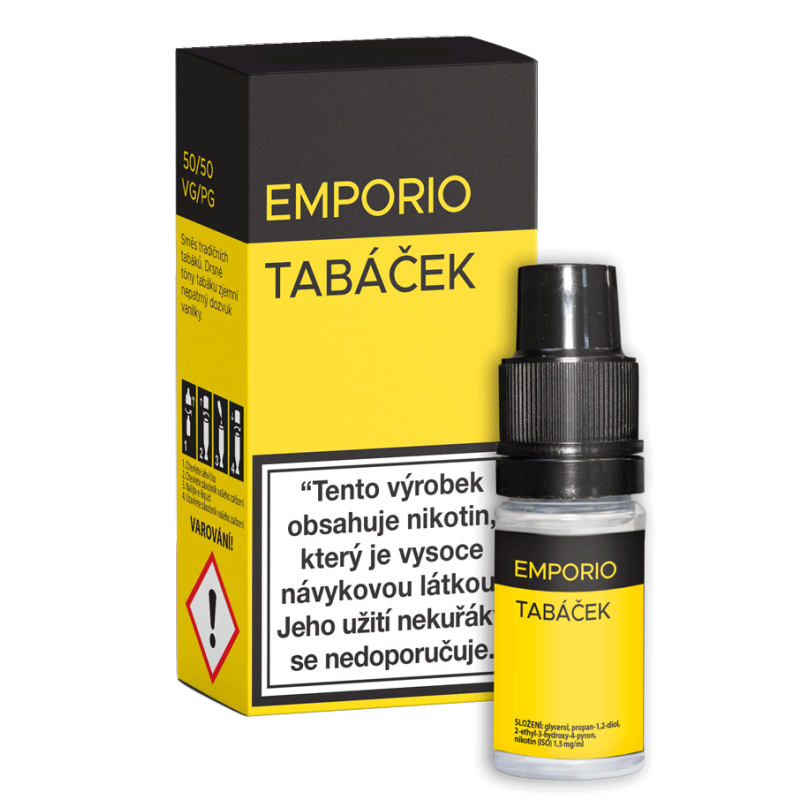 E-liquid EMPORIO Tabáček 12mg / 10ml