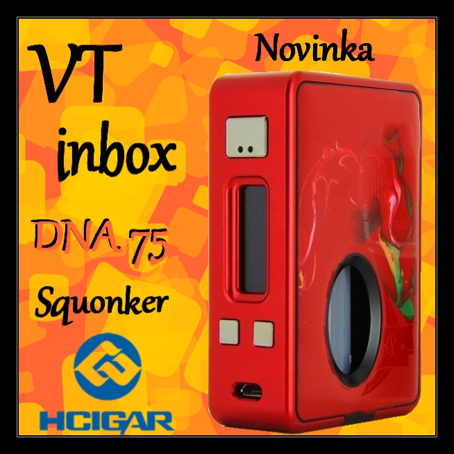 HCIGAR Vt inbox DNA75 Squonker RED / červená