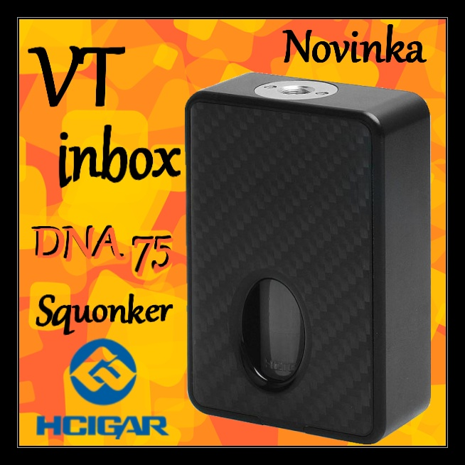 HCIGAR Vt inbox DNA75 Squonker Black carbon