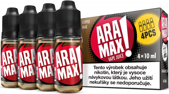 Liquid ARAMAX Coffee Max 4x10ml / 3mg