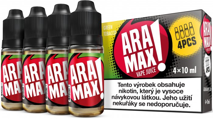 Liquid ARAMAX GREEN TOBACCO 4x10ml / 3mg