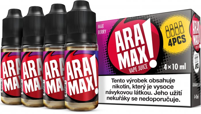 Liquid ARAMAX MAX BERRY 4x10ml / 3mg