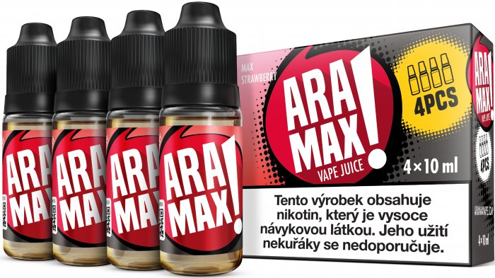 Liquid ARAMAX MAX STRAWBERRY 4x10ml / 3mg