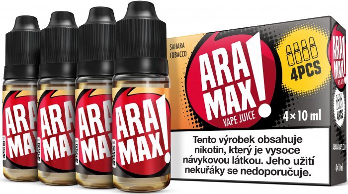 Liquid ARAMAX SAHARA TOBACCO 4x10ml / 3mg