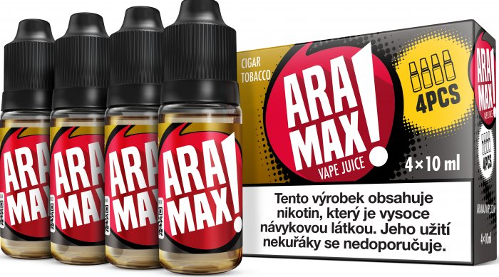 Liquid ARAMAX CIGAR TOBACCO 4x10ml / 3mg