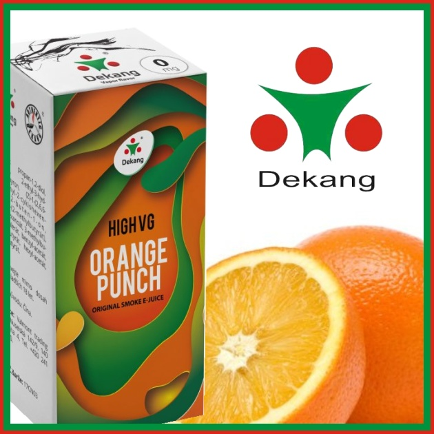E-liquid DEKANG HIGH VG ORANGE PUNCH 10ml / 0mg