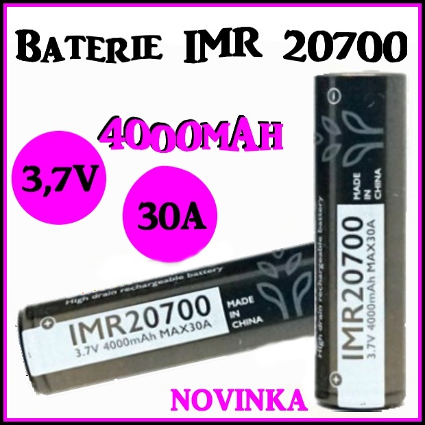 Brillipower baterie IMR 20700 4000mAh 30A