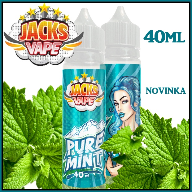 Jacks Vape Pure mint aroma shot 40 ml