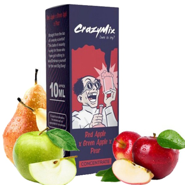CrazyMix Red Apple x Green Apple x Pear 10ml
