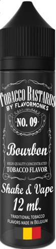 FLAVORMONKS TOBACCO BASTARDS SHAKE AND VAPE 12ML NO.09 BOURBON