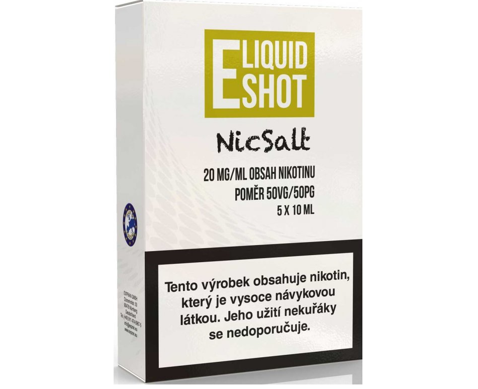 ELIQUID SHOT BOOSTER NICSALT 50/50 20mg 5x10ml