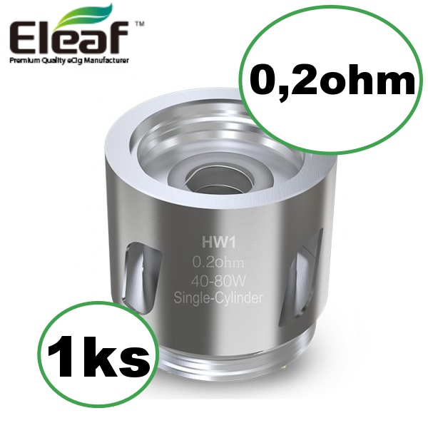 Eleaf HW1 Single Cylinder žhavicí hlava 0,2ohm 1ks