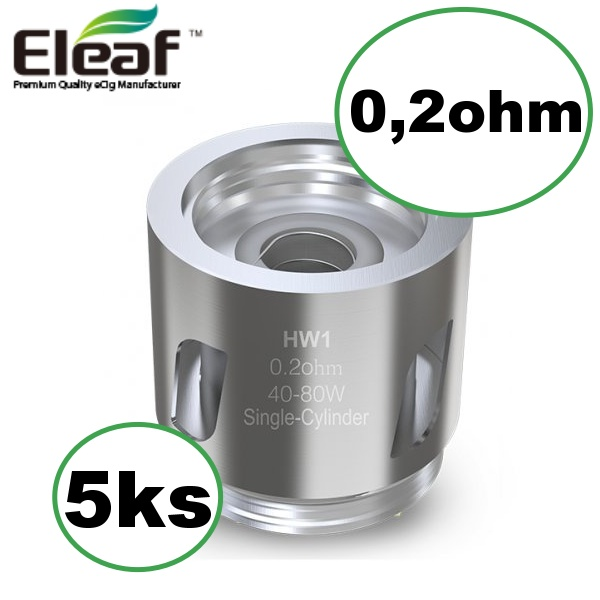 Eleaf HW1 Single Cylinder žhavicí hlava 0,2ohm 5ks