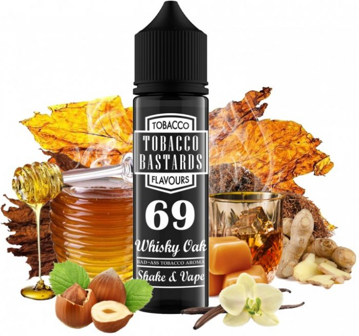 FLAVORMONKS TOBACCO BASTARDS SHAKE AND VAPE 12ML NO.69 WHISKEY OAK