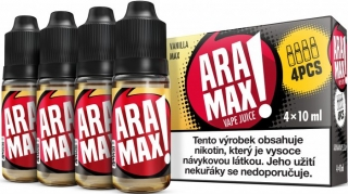 Liquid ARAMAX VANILLA MAX 4x10ml / 3mg