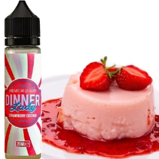 Dinner Lady Shake and Vape Strawberry Custard 20ml